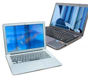 Troca de LCD quebrado de Laptop